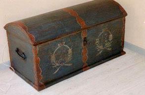 Kiste fra 1787, afdækket.