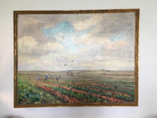 Maleri af Fritz Syberg.  Renset