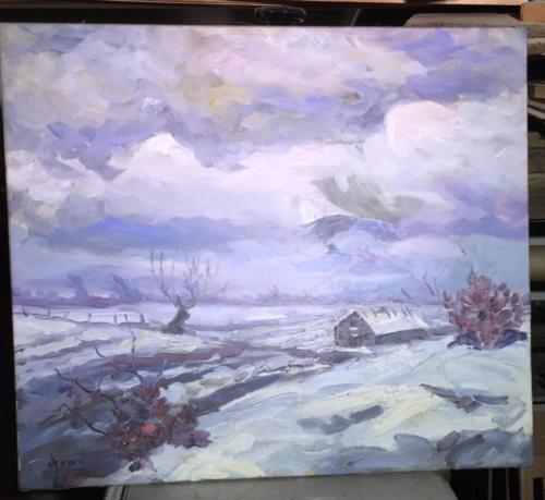 10a Vandskadet maleri..Efter